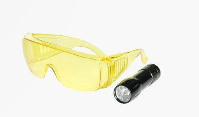 LAMPA UV 9 Led (3 BATERIE AAA) + OKULARY